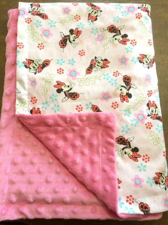 Minky Baby Toddler Blanket Minnie Mouse By Krazykraftingchick