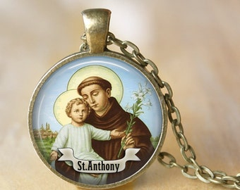 St Anthony Pendant Necklace Saint Necklace Bring Love to your life Medal Jewelry Necklace religious necklace religious jewerly