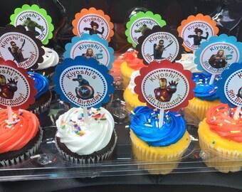 AVENGERS cupcake topper