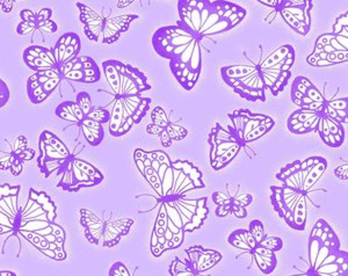 AE Nathan Comfy Flannels - Purple and white different sized butterflies