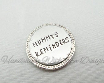 Personalised Magnet,  Hand stamped