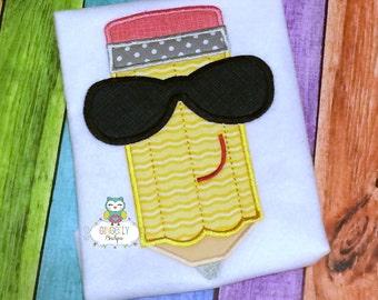Boy Pencil with Sunglasses School Shirt, First day of School, Back to School, School Shirt, Pencil Shirt