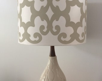Vintage wood and ceramic lamp
