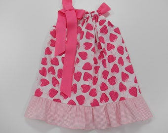 Pillowcase Dress /Infant/ Toddler Pink Strawberry