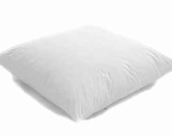 """18"""" x 18"""" (45cm x 45cm) white Duck Feather Cushion Pad"""