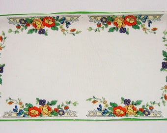 Vintage floral edged vanity / sandwich tray Coronation Ware Made in England