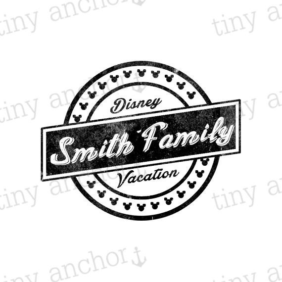 personalized disney inspired logo style family vacation last On last name pictures architecture