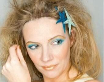 Blue Starfish Headband, Blue Headband, Blue Diadem, Summer Headband, Summer Headpiece, Summer Accessories, Wedding Accessories