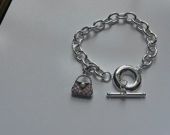 Chain Braclet with purse charm