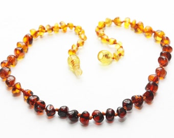 Authentic baltic amber baby teething necklace. Break away clasp.