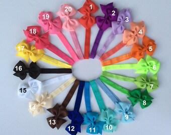 10%OFF/ FREE SHIP/ 6 newborn headband/ hair bow/ bow and headband/ headband and bow/ newborn headband/ stretch headband/ infant bow headband