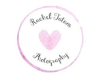 "Custom Premade Photography Logo and Watermark ""Fingerprint Love"" - Exclusive Package Bulk Rate"