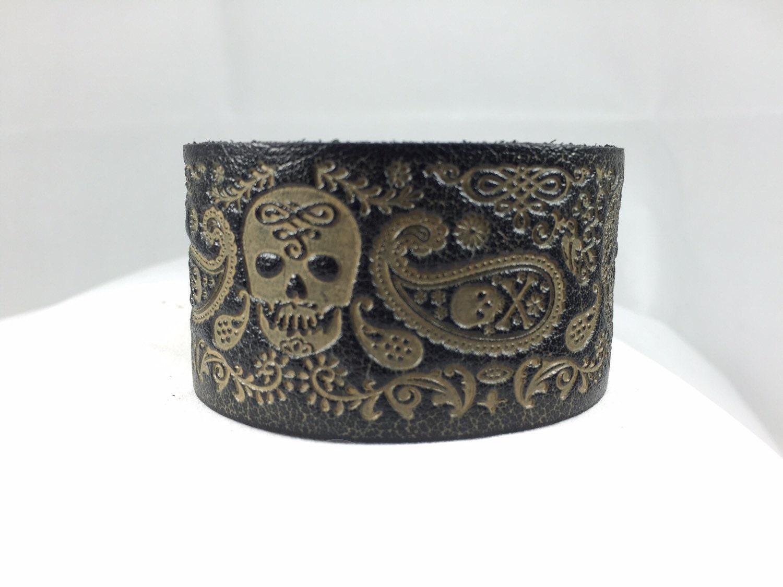 upcycled leather belt cuff style bracelet by salvij on etsy