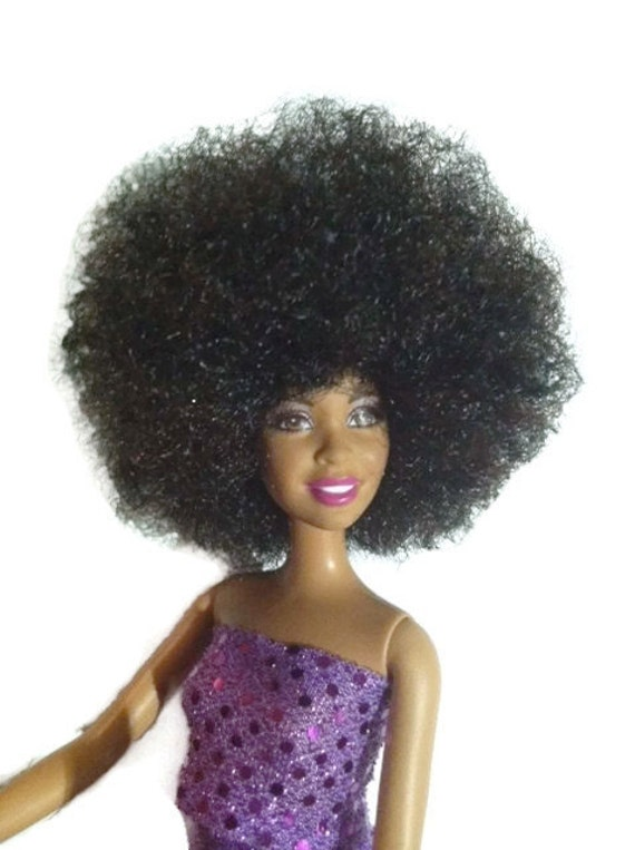 Black Doll Natural Hair Custom Afro Barbie