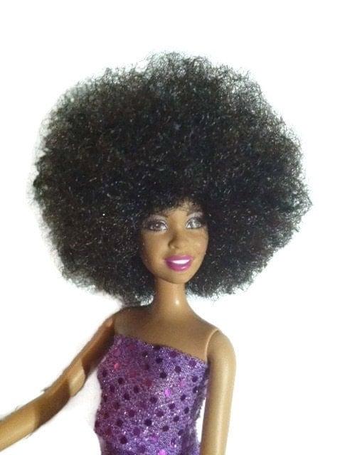 Black Doll Natural Hair Custom Afro Barbie