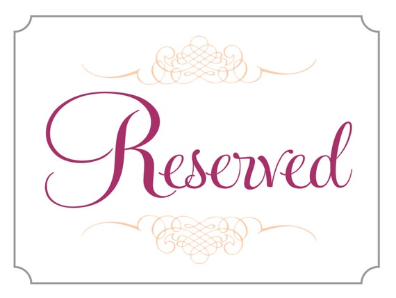 table reservation card template - reserved for sharon rhinestone pearl brooch