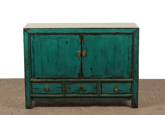 painted tv console media cabinet with drawers from by