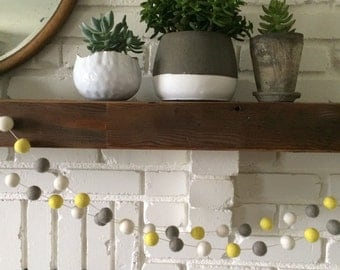 Hello Yellow Felt Ball Garland