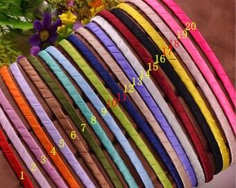 Wholesale lots  Blank Plain 20color pick Metal Headband Hair Band 4 DIY Headwear Headdress 5mm hairbands