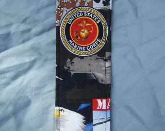 United states marine corps fabric book mark