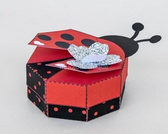 Ladybug Ladybird Favor Box, Ladybug ladybird printable gift box for Ladybug Birthday, Ladybird party