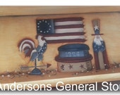 Americana Tray Uncle Sam Rooster Flag