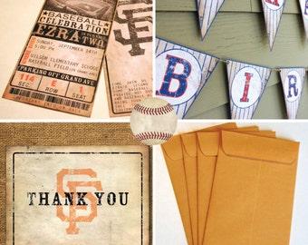 Custom Vintage Baseball Party Package
