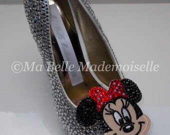 Minnie Mouse Rhinestone Shoes, Minnie Mouse Shoes, Minnie Mouse Heels, Minnie Mouse Pumps, Disney Shoes, Disney Heels, Disney Pumps
