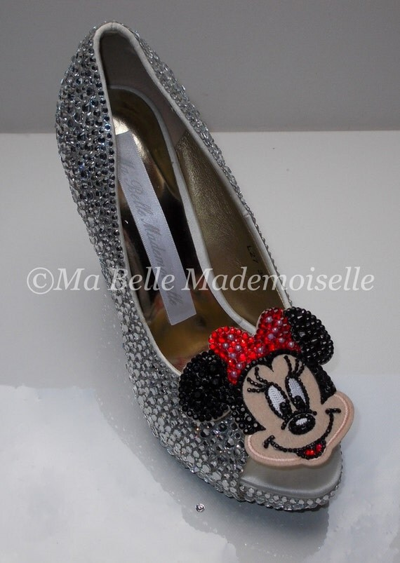 minnie mouse rhinestone shoes minnie mouse shoes minnie mouse heels minnie mouse pumps