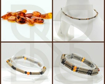 Men's or Women's Hazelwood Teen or Adult Double Single or Ankle Bracelet Baltic Amber natural gemstone therapeutic