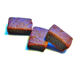 Special Dark Chocolate Fudge Brownie Bars 3pcs