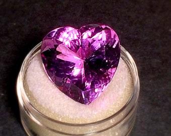 Massive 19mm genuine heart shape amethyst.