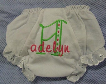 personalized baby bloomers,monogram diaper cover,monogram bloomers,adorable bloomers,baby shower gift,fancy pants,monogram bloomers,baby