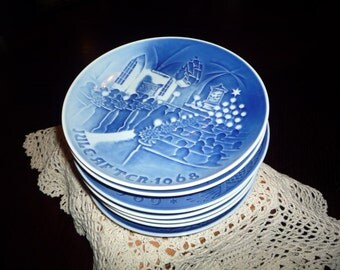 Set of Copenhagen Denmark Collector's Plates