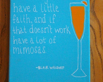 Blair Waldorf Quote Canvas