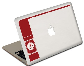 Sci-fi art inspired by Star Trek COMMAND & LCARS Departmental logo laptop vinyl decal - geekery sticker for tablets