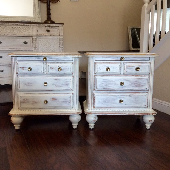 Pretty white nightstands white nightstands bedroom by for Pretty bedroom furniture
