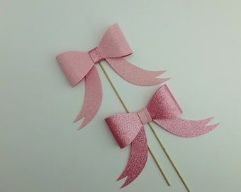Bow Glitter Foamy Pink Photo Booth Props Hair bow collar bow