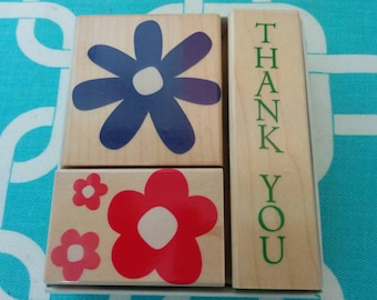 Hero Arts Thank You Fancy Notes Wood Mounted Rubber Stamp Set