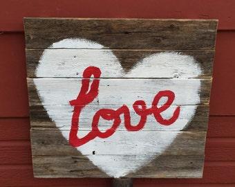 Love - Rustic Wall Hanging