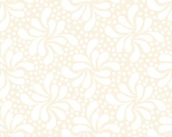 Quilting Illusions, Tiny Pinwheel Floral, Ivory, Quilting Treasures By 1/2 yd