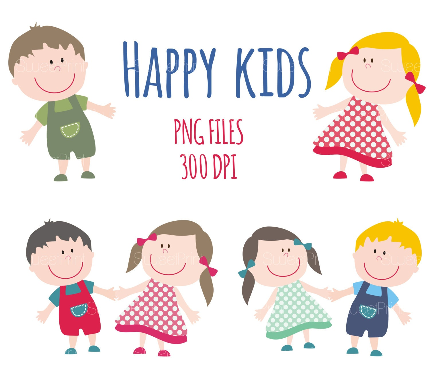 Happy Smile Kids Clipart Children Clip Art