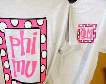 Phi Mu T-shirt {size S}