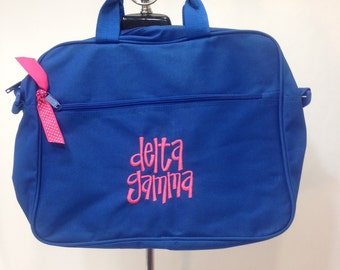 Delta Gamma Fabric Book Bag