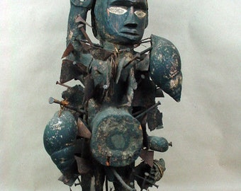Congo Fetish-Rare 19th century Antique African Village Protector Figure-WOW!
