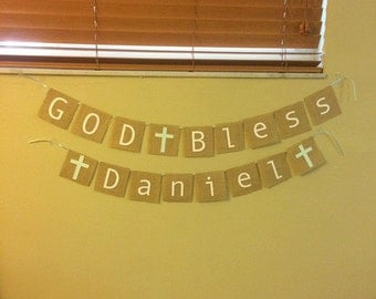 Baptism Banner (God Bless)