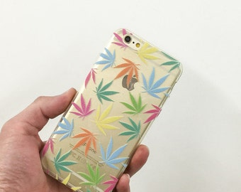Clear Plastic Case Cover For Iphone 5 5s - Pastel Plantlife