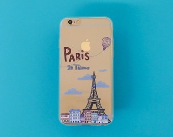 Clear Case for Apple Iphone 5C - Je Taime Paris