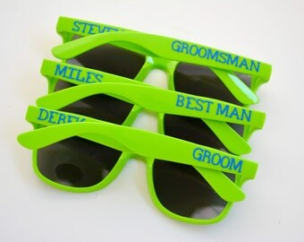 Bachelor Wedding Party Sunglasses - Personalized - Guys Trip