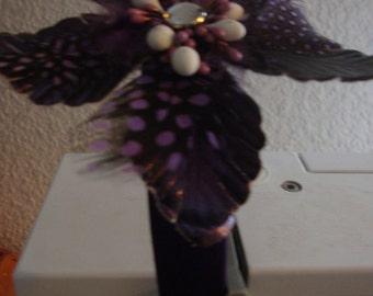 Purple Headband with Purple Flower